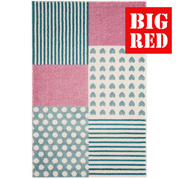 Asiatic Rugs Junior Play Hearts And Stripes