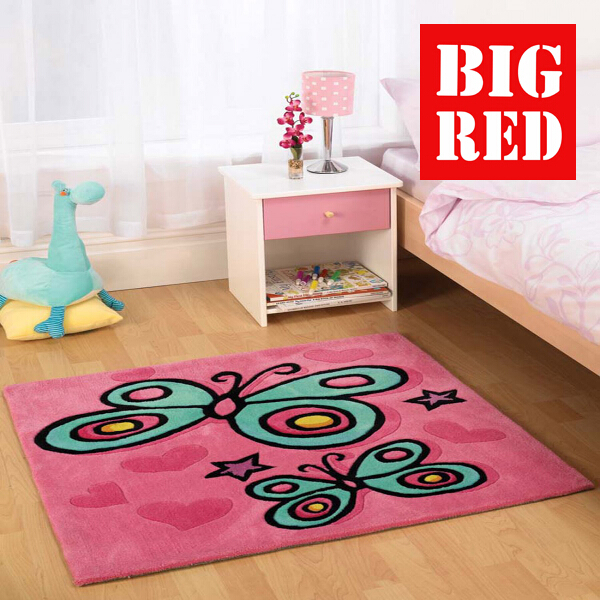 Flair Rugs Kids Collection Erfly Pink