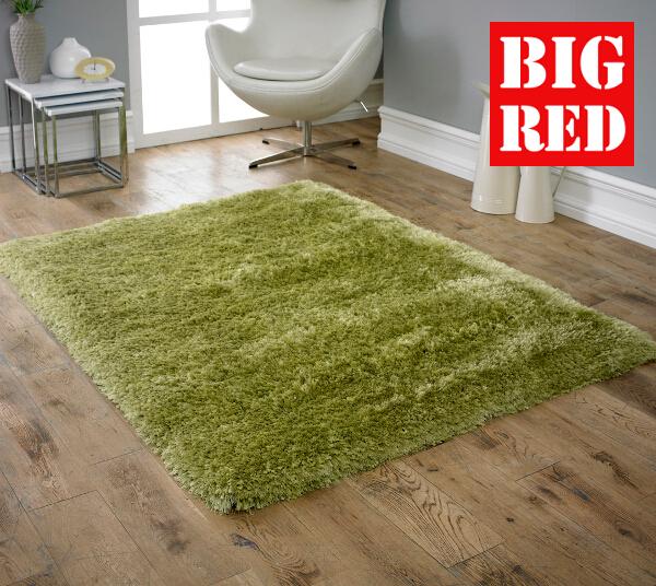 Cie Flooring Plain Rugs Luxury Green
